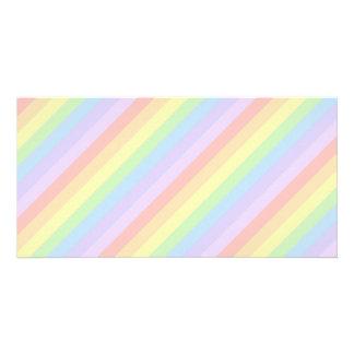 Pastel Rainbow Stripes. Photo Greeting Card