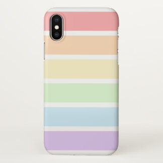 Pastel Rainbow Stripes Zazzle iPhone X Case