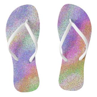Pastel Rainbow Thongs