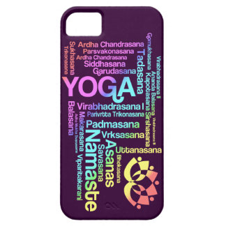 Pastel Rainbow Yoga Positions in Sanskrit Barely There iPhone 5 Case