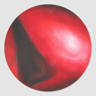 Pastel Red Comet (astronomical expressionism) Round Sticker