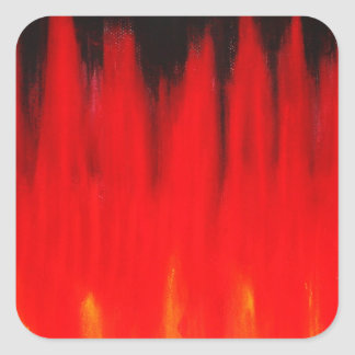 Pastel Red Fire Flames (Natural Symbolism) Square Sticker