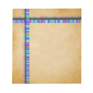 Pastel Ribbon and Parchment Notepad