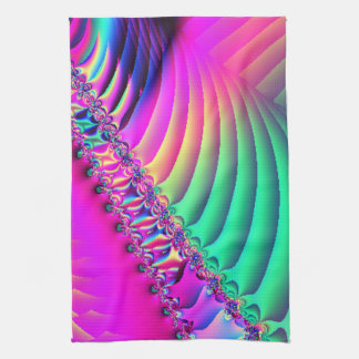 Pastel Ribbon Fractal Tea Towels