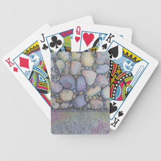 Pastel River Rock and Pebbles Bicycle Playing Cards