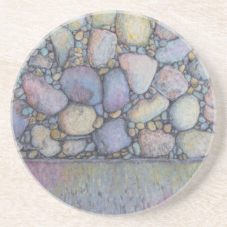Pastel River Rock and Pebbles Coaster