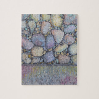 Pastel River Rock and Pebbles Jigsaw Puzzle
