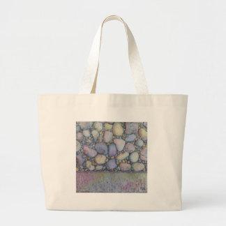 Pastel River Rock and Pebbles Large Tote Bag