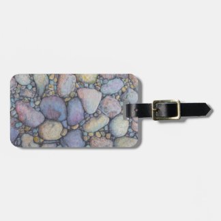 Pastel River Rock and Pebbles Luggage Tag