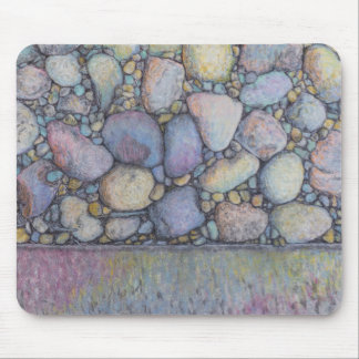 Pastel River Rock and Pebbles Mouse Pad