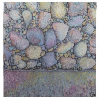 Pastel River Rock and Pebbles Napkin