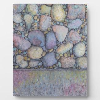 Pastel River Rock and Pebbles Plaque