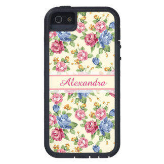 Pastel Romantic blossom Pink, Red, Blue Roses name iPhone 5 Cover