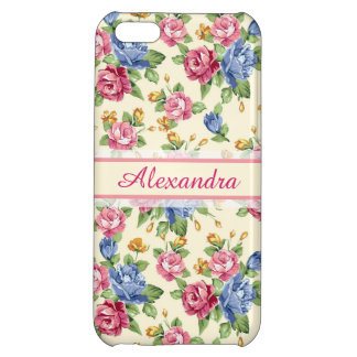 Pastel Romantic blossom Pink, Red, Blue Roses name iPhone 5C Cover