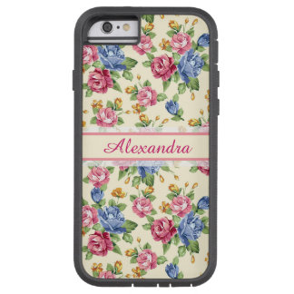 Pastel Romantic blossom Pink, Red, Blue Roses name Tough Xtreme iPhone 6 Case