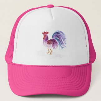 Pastel Rooster by Wendy C. Allen Trucker Hat