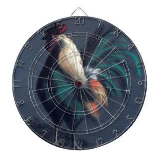 Pastel Rooster Chicken Dartboard