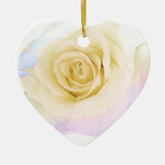 Pastel rose ceramic heart decoration