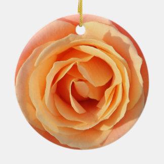 Pastel rose christmas ornament