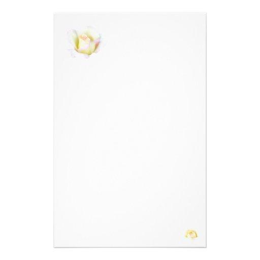 Pastel rose stationery design