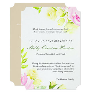 Pastel Roses Sympathy Thank You Card