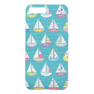 Pastel Sailboat Pattern iPhone 7 Plus Case