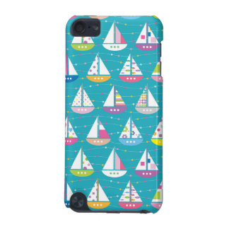 Pastel Sailboat Pattern iPod Touch 5G Cases