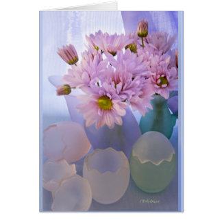 Pastel satin in glass card