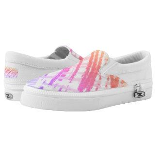 Pastel Scribble Slip-On Sneakers