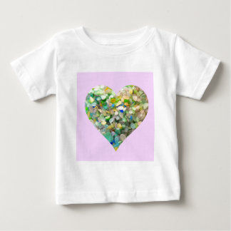 Pastel Sea Glass Heart In Pink Baby T-Shirt