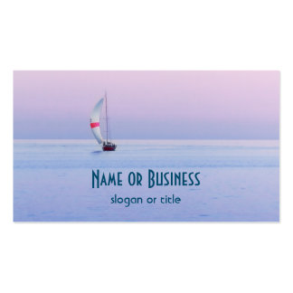 Pastel Seascape with a Sailboat Pack Of Standard Business Cards