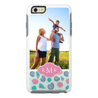 Pastel Seashell Pattern | Your Photo & Monogram OtterBox iPhone 6/6s Plus Case