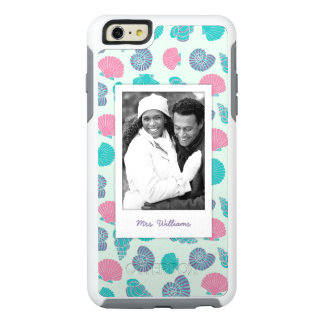 Pastel Seashell Pattern | Your Photo & Name OtterBox iPhone 6/6s Plus Case