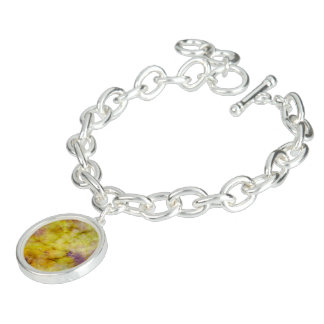 Pastel Shades of Yellow Charm Bracelet