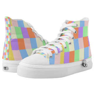 Pastel Shapes High Tops