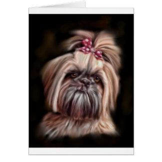 Pastel Shih Tzu Card