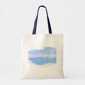 Pastel Ships At Sea Photo Image Budget Tote Bag