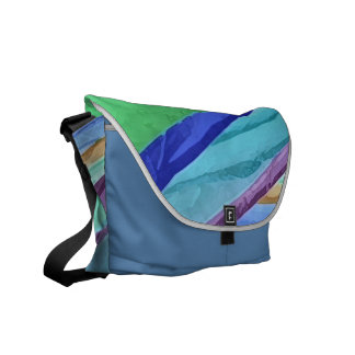 Pastel Silks Abstract Commuter Bag Courier Bags