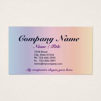 Pastel single Sided Business Card Template v3