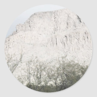 Pastel Sketch of Hill in Tucson Round Sticker