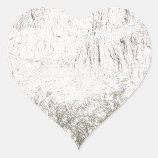 Pastel Sketch of Hill in Tucson Heart Sticker