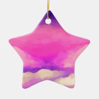 Pastel Sky Ceramic Star Decoration