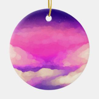 Pastel Sky Round Ceramic Decoration