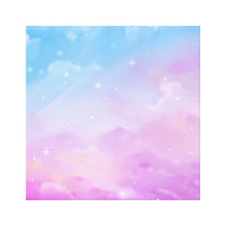 Pastel Sky with Clouds Room Decor