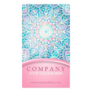 Pastel Snowflake Mandala - Pink Pack Of Standard Business Cards