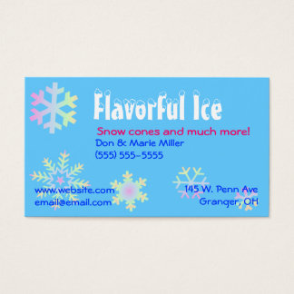 Pastel Snowflakes Business Card