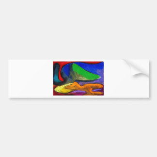 Pastel Soothers (abstract expressionism) Bumper Sticker