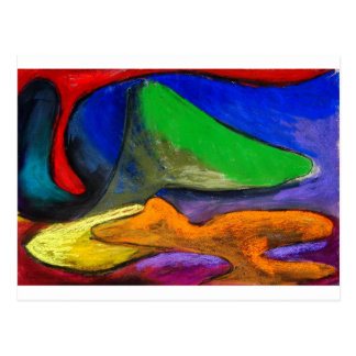 Pastel Soothers (abstract expressionism) Postcard