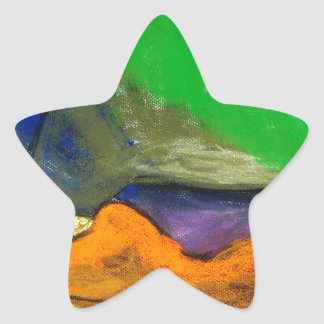 Pastel Soothers (abstract expressionism) Star Sticker