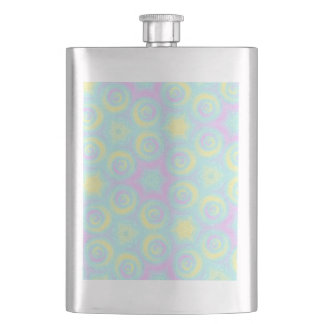 Pastel Spirals Hip Flask